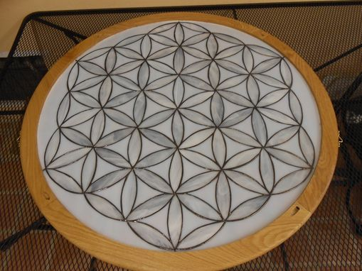 Custom Made Flower Of Life Stained Glass Window
