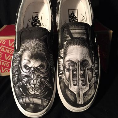 Custom Made Hand Drawn Mad Max Custom Shoes