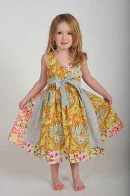 Custom Made Girl's Wrap Dress
