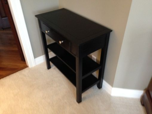 Custom Made Ebonized Accent Table