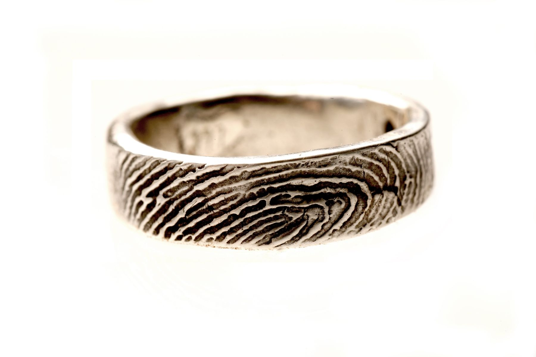 thatsmyimpression custommade wedding fingerprint ring a or ladies sterling s buy order silver to from rings my that com by custom impression mens made