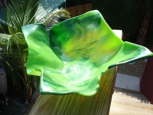 Custom Made Slumped Fused Glass Bowl