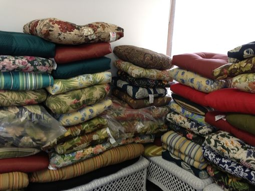 Custom Made Assortment Of Upholstered Cushions #4