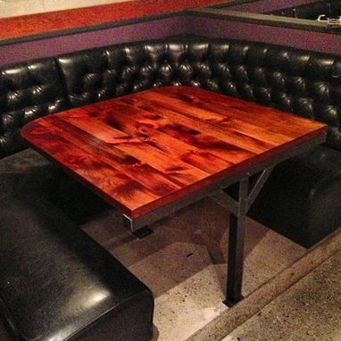 Custom Made Reclaimed Barnwood Restaurant Tables