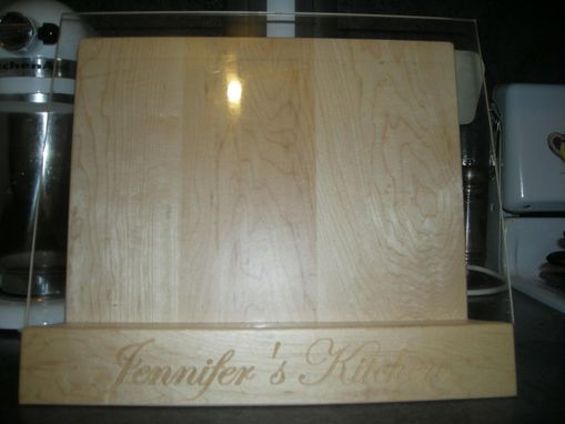Custom Made Personalized Cookbook Holder