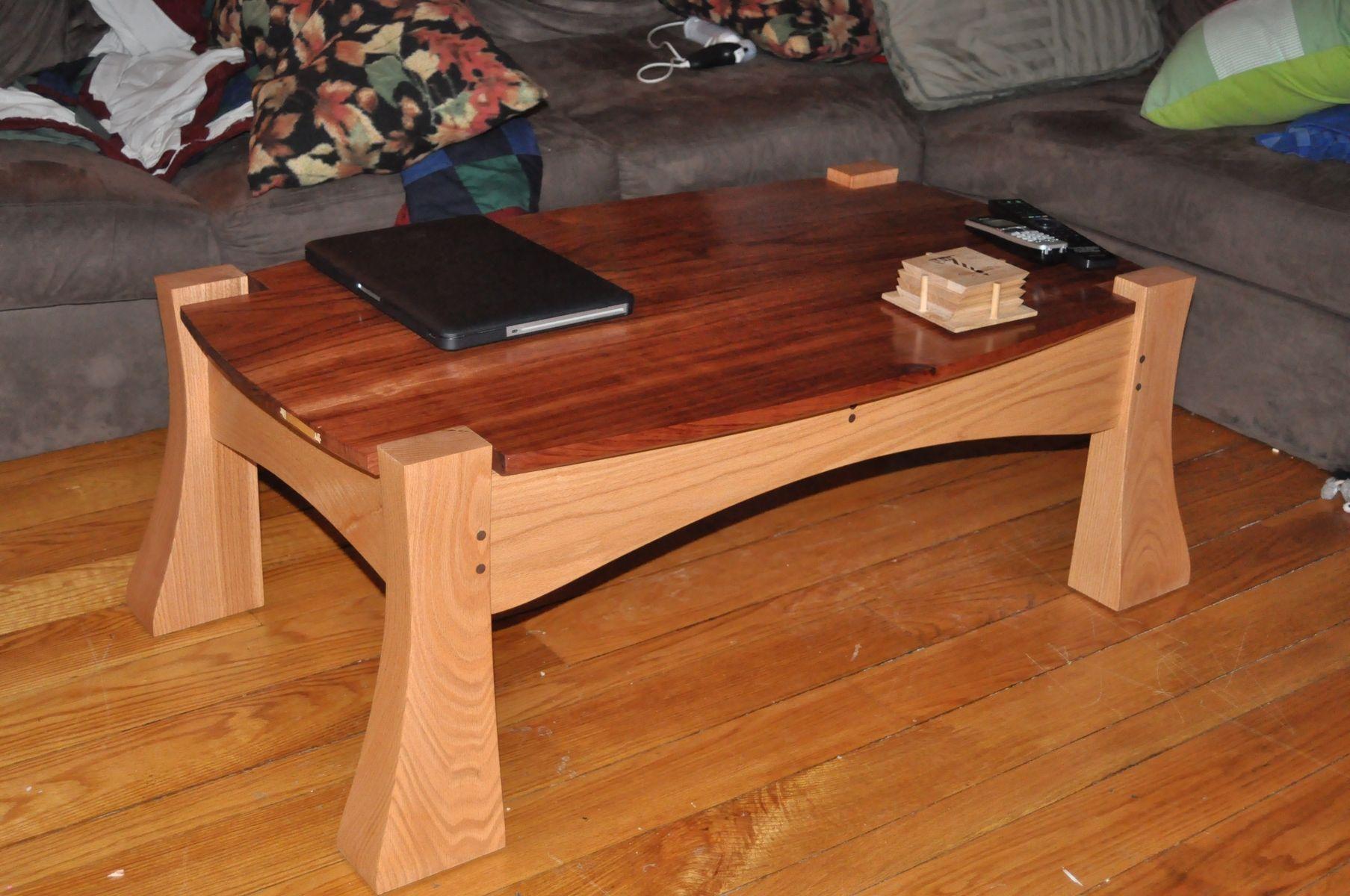 Custom Bubinga And Oak Coffee Table by Aries Furniture