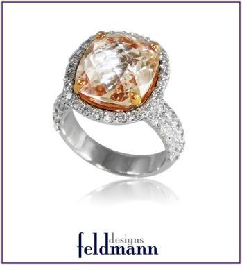 Custom Made Morganite And Diamond Ring