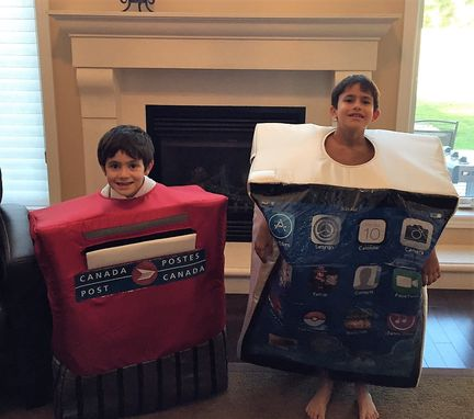 Custom Made Mail Box Costume ...Canadian Child