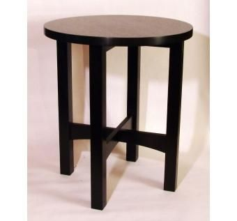 Custom Made Ebonized Tabouret