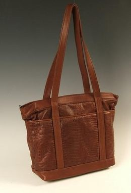 Custom Made Leather Tote Bag
