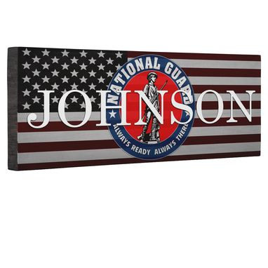 Custom Made Hero National Guard Flag Canvas Wall Art