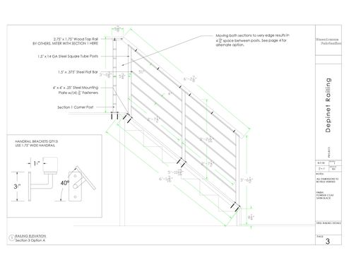 Custom Made Railing Plans And Cad Files