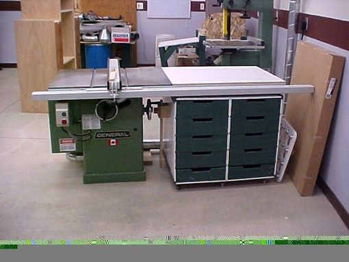 Custom Made Table Saw Side Storage Cabinet