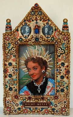 Custom Made St. Bette, Mixed Media Decorative Icon