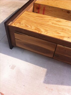 Buy A Hand Crafted Modern Sappy Walnut Danish Platform Queen Bed Made To Order From The