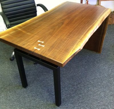 Custom Made Natural Live Edge Walnut Desk