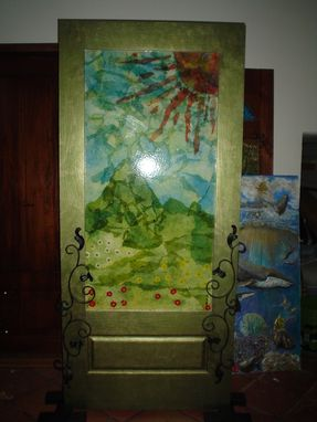 Custom Made Entryway Of Art / Paper Mache Art