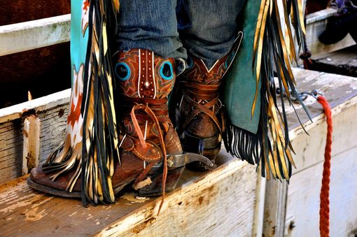 "Custom Made Fine Art Photography ""Bull Rider Below The Knees''"