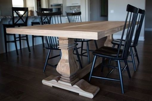 Custom Made Pecan Trestle Dining Table