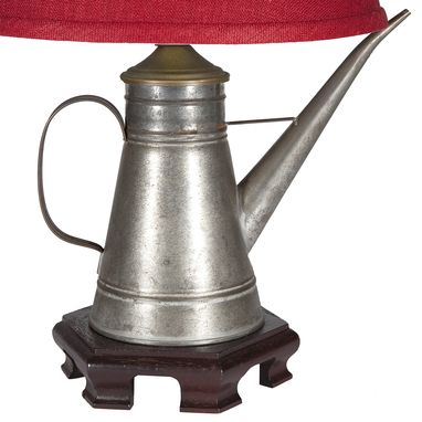 Custom Made Vintage Silver Metal Spout Pitcher Lamp
