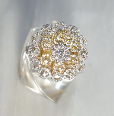 Custom Made Big Look Cluster Ring