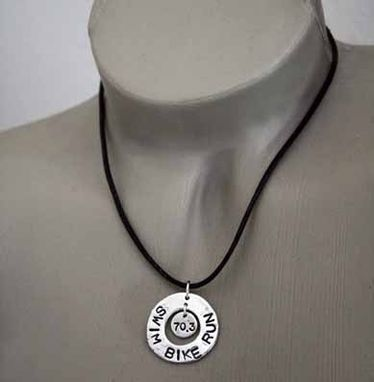 Custom Made Fine Silver - Double Medallion Necklace - $110
