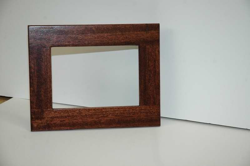 Hand Crafted Mahogany Standing Picture Frame By Wooden It Be Nice