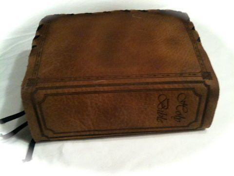 Custom Made Jesus Leather Bible Cover