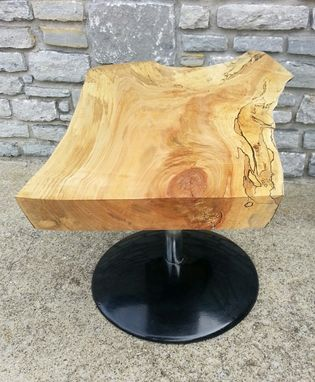 Custom Made Coffee Table, Live Edge Coffee Table, Modern Coffee Table, Spins 360