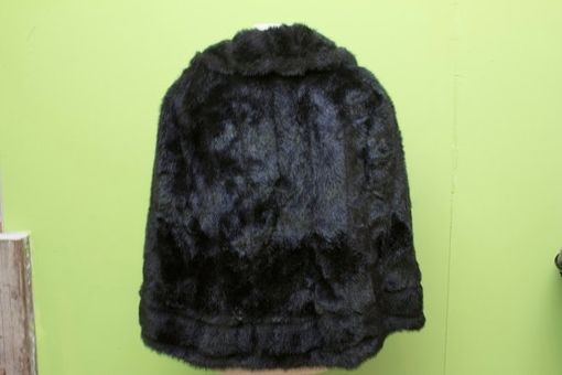 Custom Made Vintage Faux Fur Stole 1960s Replica Shawl Satin Lined Capelet