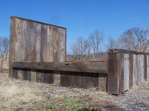 Buy a hand made weathered grey reclaimed barn wood bed for Buy reclaimed barn wood