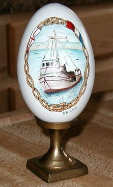 Custom Made Hand Painted Goose Egg / Acrylic