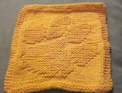 Custom Made Orange Animal Paw Knitted Cloth For Bathroom, Kitchen,And More