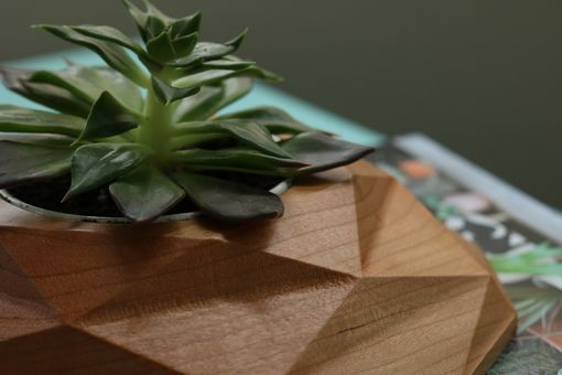 Custom Made Diamond Succulent Planter | Solid Wood
