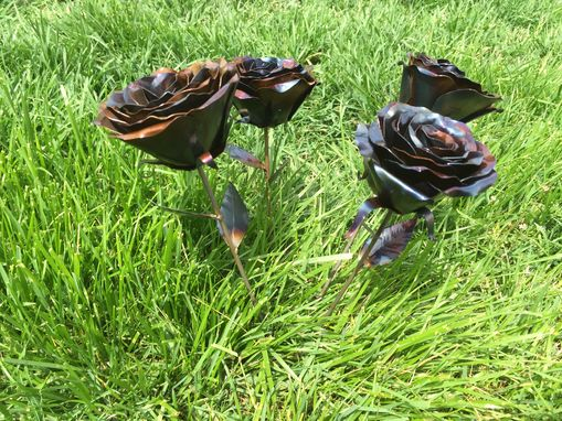 Custom Made Forever Roses - Hand-Forged Metal Roses