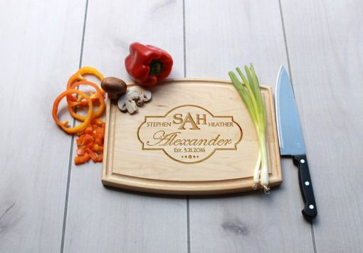 Custom Made Personalized Cutting Board, Engraved Cutting Board, Custom Wedding Gift – Cba-Map-Alexander