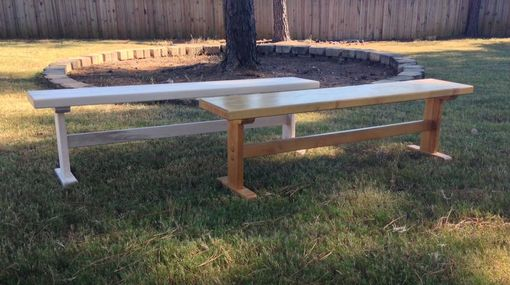 Custom Made Trestle Bench In Maple