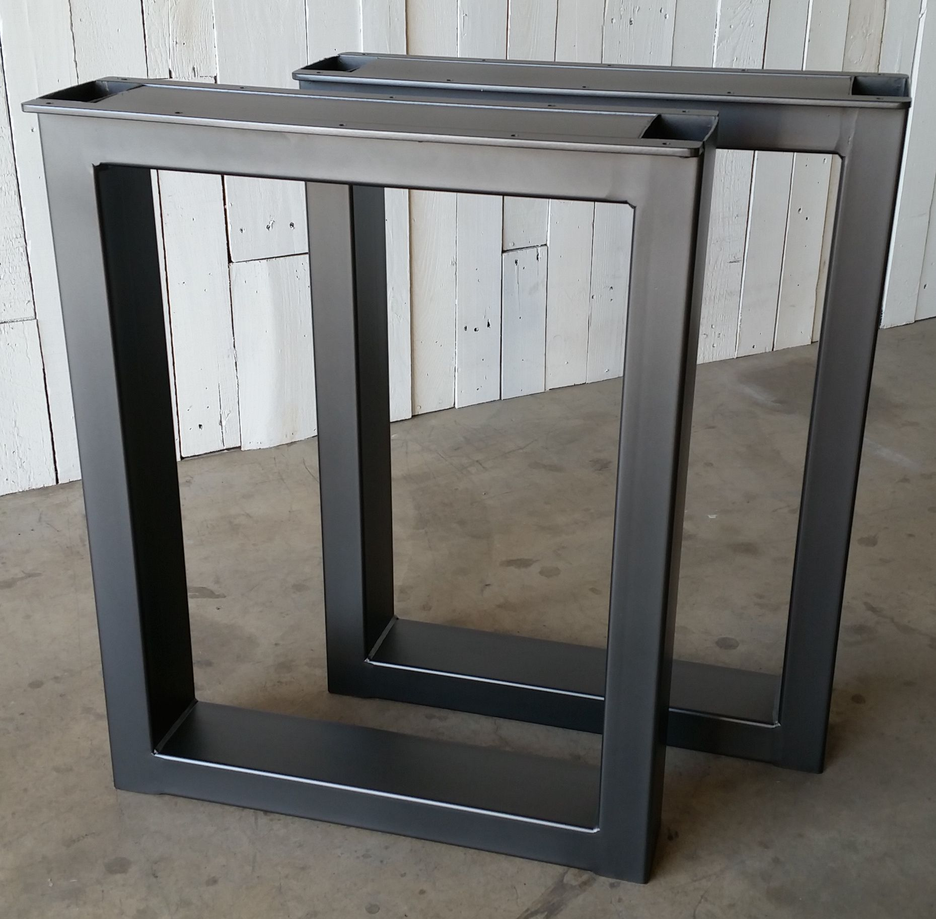 Custom made metal table legs burton by urban ironcraft for 6 furniture legs canada
