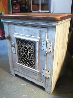 Custom Made Dining Room Side Cabinet In Antique Whitewash