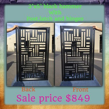 Custom Made Contemporary New Metal Gate Modern Urban Pedestrian Walk Iron Art Garden Gate
