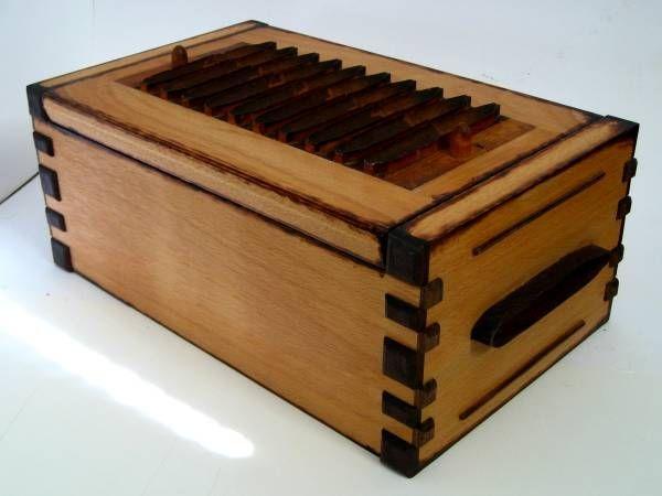 Handmade Vintage Cigar Mold Tabletop Humidor By Zanoni