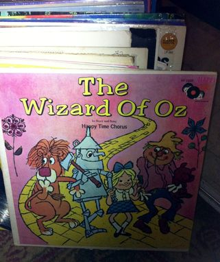 Custom Made Upcycled Hand Painted Vintage Vinyl Record - Wizard Of Oz