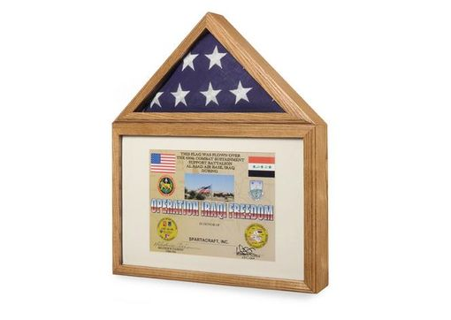 Custom Made Flag Medal Display Case, Flag And Medal Shadowcase