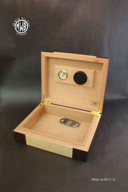 Custom Made Custom Humidor With Custom Inlay.