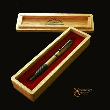 Custom Made Soft Grip Ballpoint Pen In Bocote