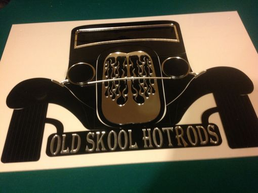 Custom Made 1932 Ford Acrylic Wall Sign With Flaming Grill