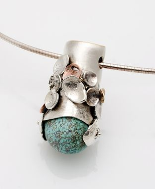 Custom Made Turquoise Pendant – Pebble Series Collection