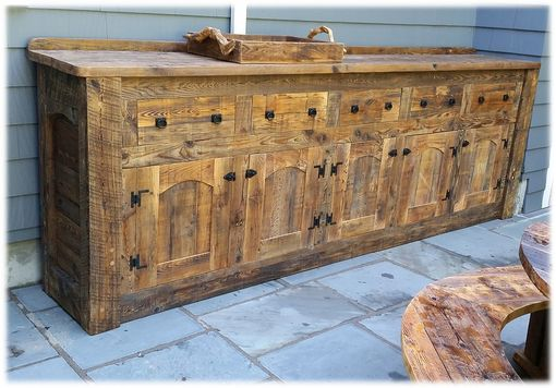 Custom Made Barn Board Buffet