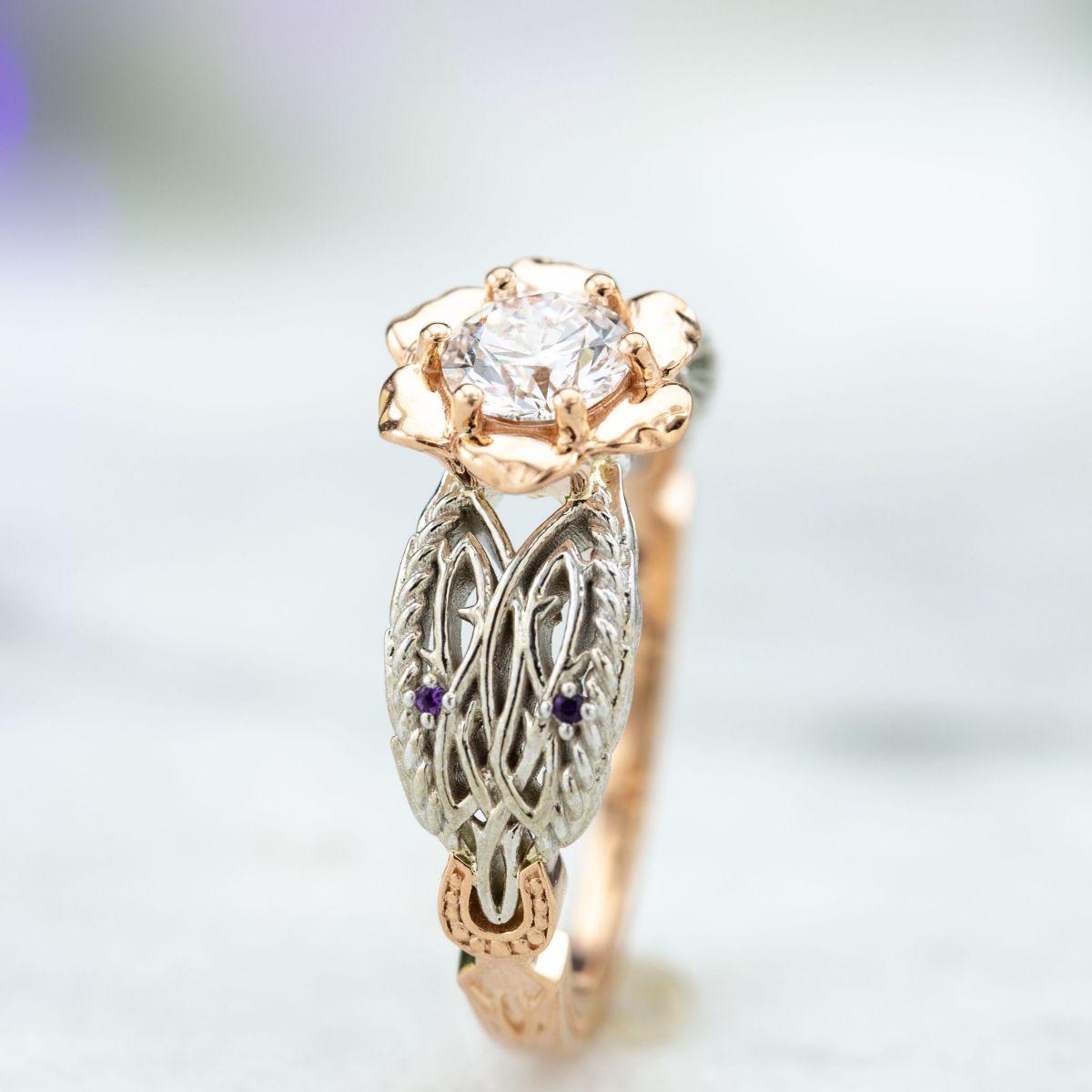 547e5a2097c Flower Engagement Rings   CustomMade.com