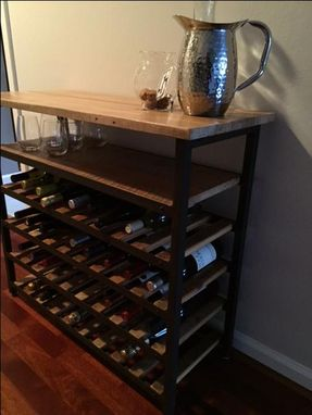 Custom Made Wine Rack And Bar